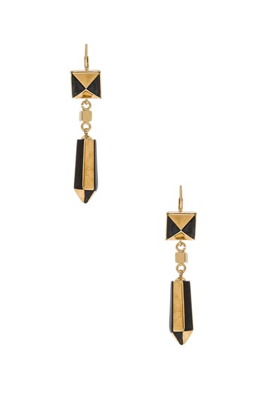 Isabel Marant Sunny Earrings in Black & Gold