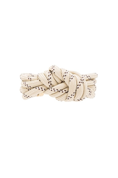 Isabel Marant Everest Bracelet in Ecru & Gold