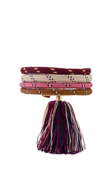 Isabel Marant Everest Bracelet in Pink & Gold