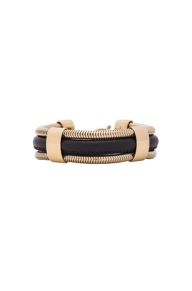 Isabel Marant Caravanes Bracelet in Black & Gold
