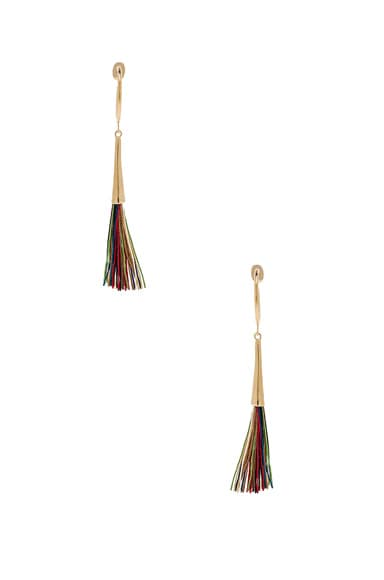 Isabel Marant Guru Earrings in Multi & Gold