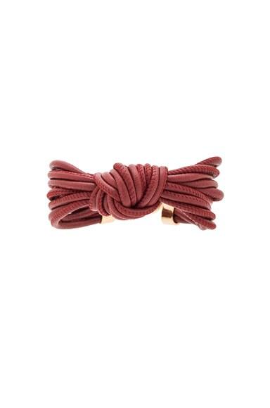 Isabel Marant Caravanes Bracelet in Burgundy & Gold