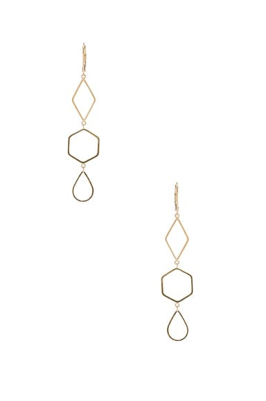 Isabel Marant Love Earrings in Gold
