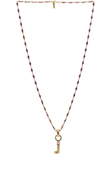 Watergate Key Brass & Resin Necklace