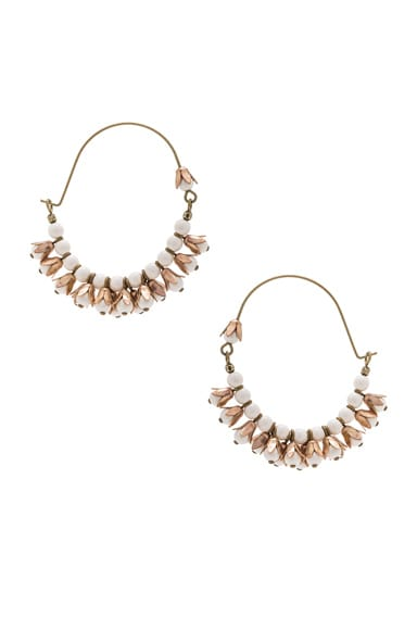 Isabel Marant Fes Earrings in Ecru