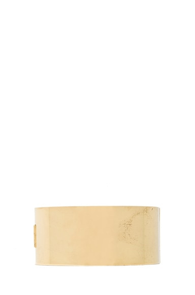 Mondrian Antique Brass Bangle
