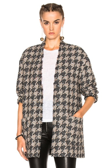Isabel Marant Jameson Tweed Jacket in Grey