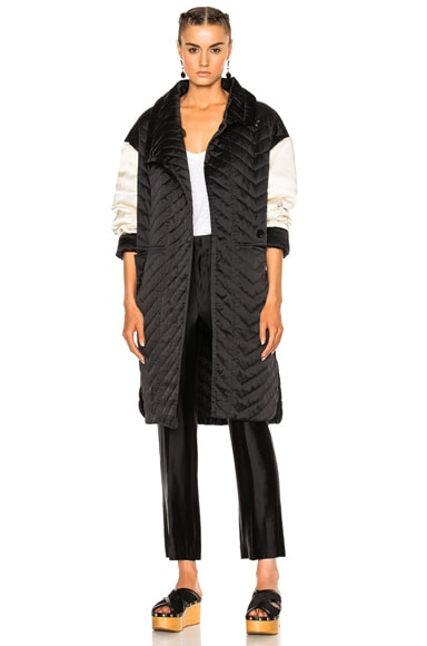 Isabel Marant Howell Silk Padded Jacket in Black