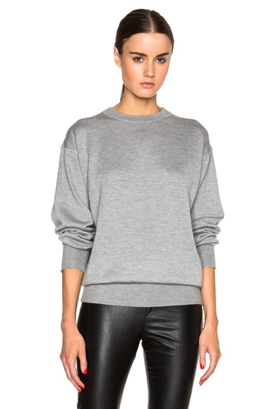 Isabel Marant Fiji Cashmere Silk Sweatshirt in Grey