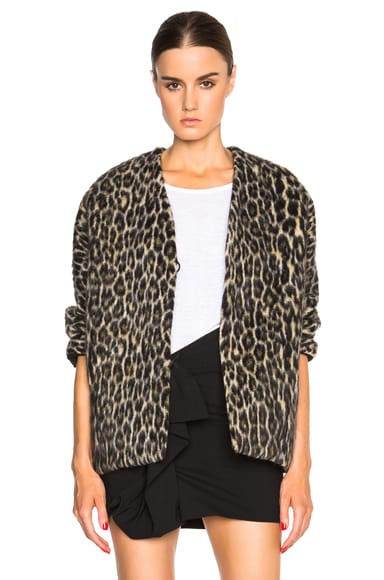 Isabel Marant Enrique Wild Coat in Fauve