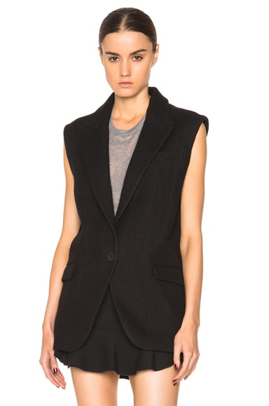 Isabel Marant Heko Vest in Black