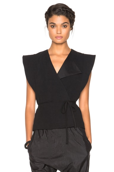 Isabel Marant Fauna Show Stretch Vest in Black