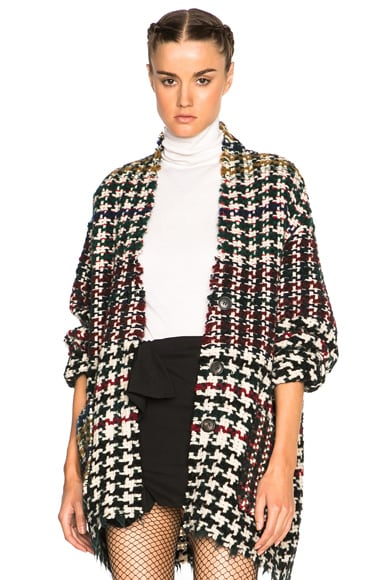Isabel Marant Diana Weave Coat in Multi