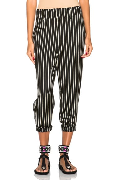 Isabel Marant Remy Striped Pants in Black