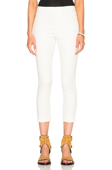 Isabel Marant Lindy New Stretch Cotton Pants in Ecru