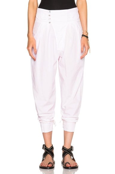 Isabel Marant Odrys Rajasthan Cotton Trousers in Light Pink