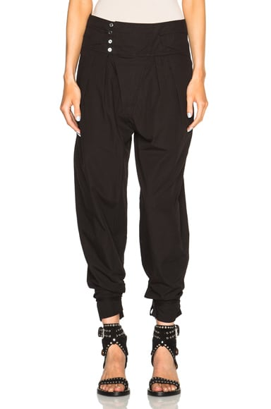 Isabel Marant Odrys Rajasthan Cotton Trousers in Black