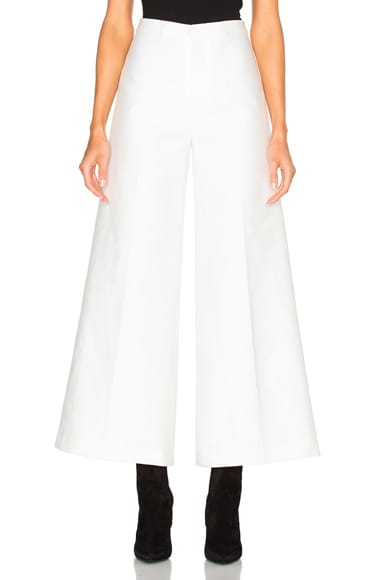 Isabel Marant Steve Cotton Costard Pants in White