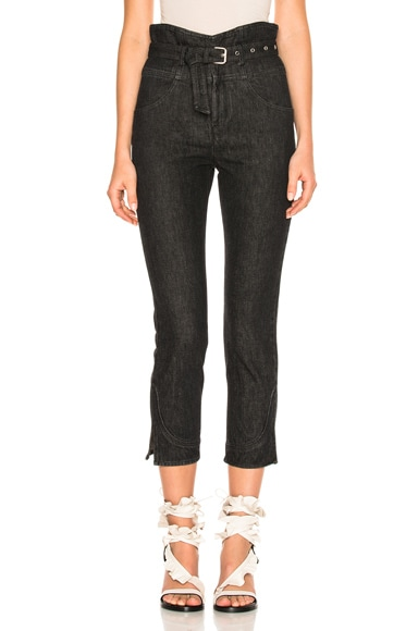 Isabel Marant Evera Denim in Faded Black