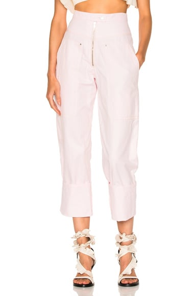 Isabel Marant Duke Pants in Light Pink