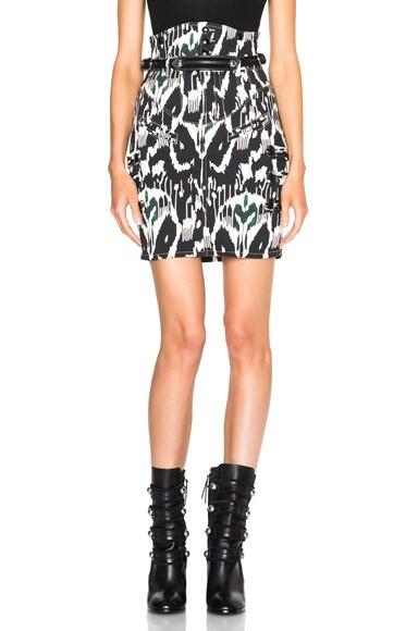 Nossy Printed Jean Skirt