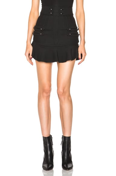 Isabel Marant Lena 70s Brandebourg Skirt in Black