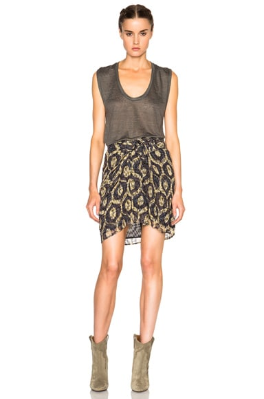 Tilia Printed Look Skirt