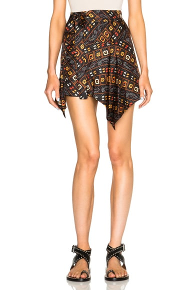 Isabel Marant Tosi Stole Twill Skirt in Black