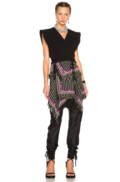 Raffi Embroidered Stripe Skirt