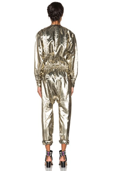Nubia Metallic Silk Jumpsuit