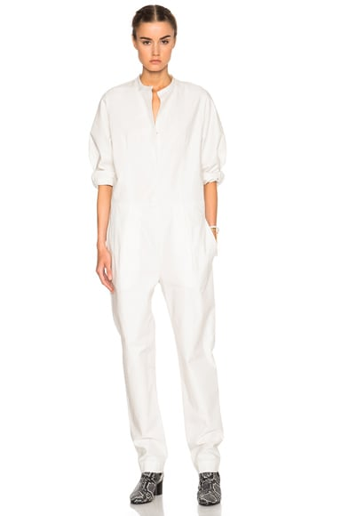Isabel Marant Nuk Chic Popeline Jumpsuit in White