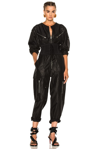Isabel Marant Laney Flight Suit in Black