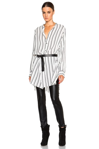 Isabel Marant Utah Striped Shirt in Black & White