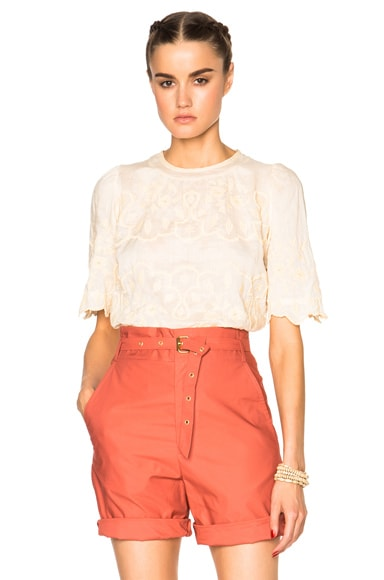 Isabel Marant Rumba Milas Item Top in Light Yellow