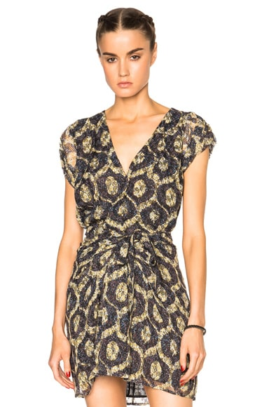 Isabel Marant Trudy Printed Look Top in Yellow