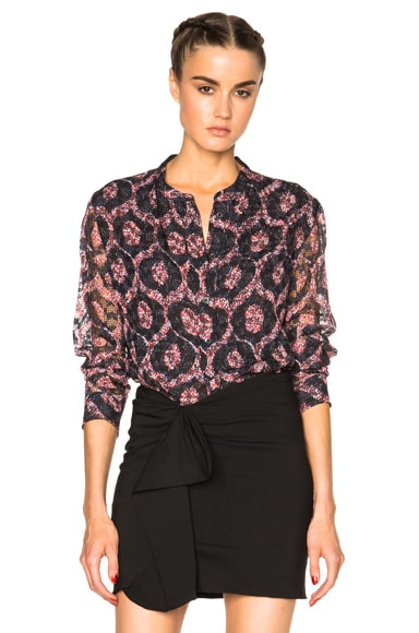 Isabel Marant Tao Printed Look Top in Red