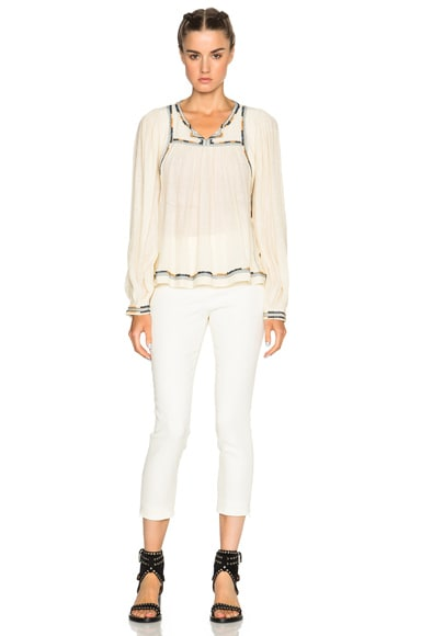 Chaz Light Silk Bourette Blouse