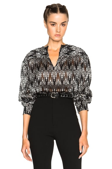 Isabel Marant Gaomi Jacquard Top in Black