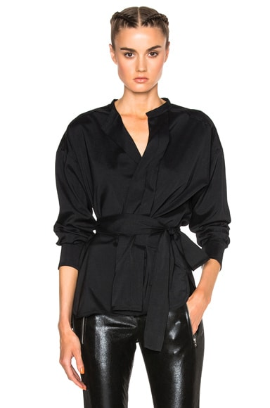 Isabel Marant Dorcey Silk Top in Black
