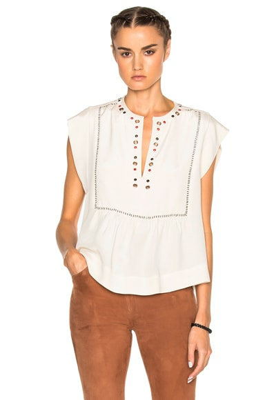 Florent Eyelet Embroidery Top