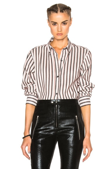 Isabel Marant Manray Shirt Story Blouse in Black & Red