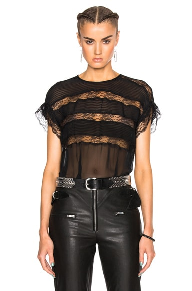 Isabel Marant Spike Easy Victorian Top in Black