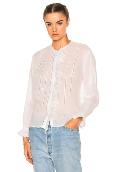 Isabel Marant Amos Blouse in White
