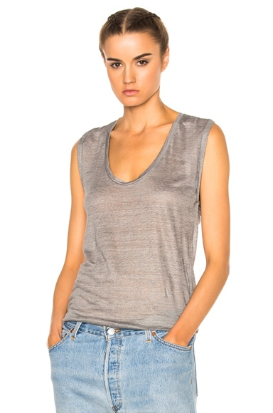 Isabel Marant Maik Tank in Light Gray