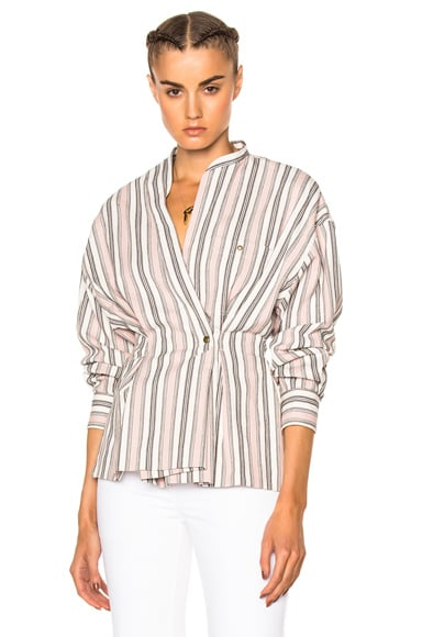 Isabel Marant Silvia Wrap Top in Ecru