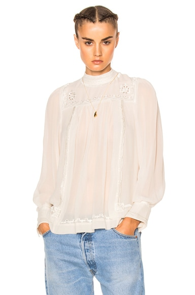 Isabel Marant Maeva Blouse in White
