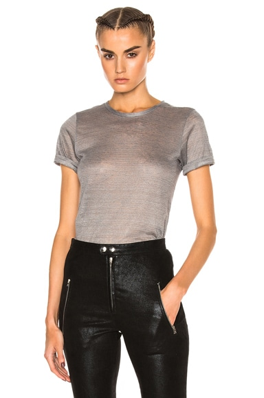 Isabel Marant Madras Tee in Light Gray