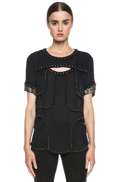 Qweeny Silk Studded Top