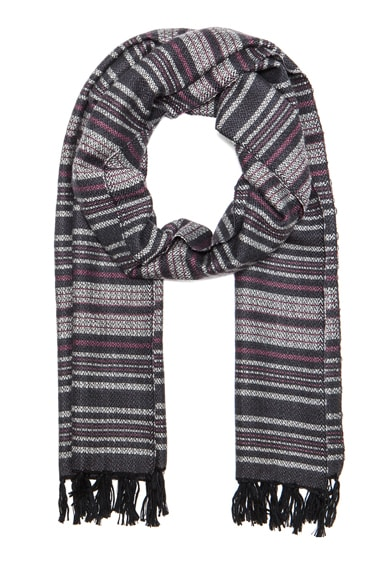 Zina Striped Scarf