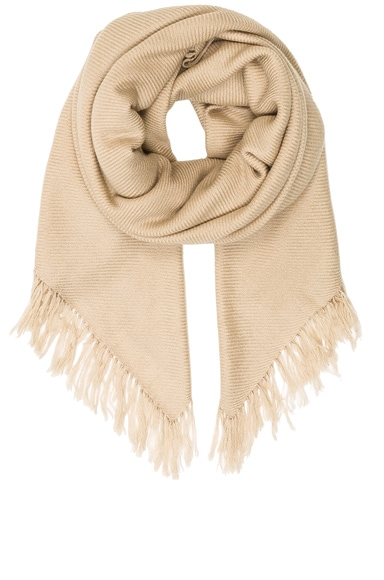 Isabel Marant Zila Cashmere Serge Scarf in Beige